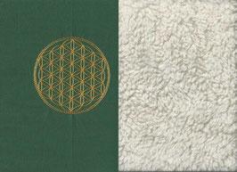 Blume des Lebens Grün + Baumwollplüsch