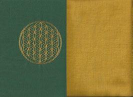 Blume des Lebens Grün + Ockergelb