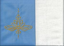 Lotusblüte Hellblau + Creme