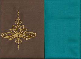 Lotusblüte Braun + Smaragt