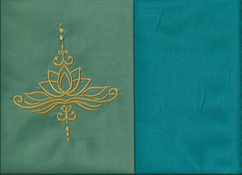 Lotusblüte Mintgrün + Smaragt