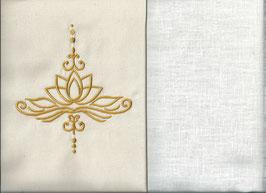 Lotusblüte Naturweiß + Creme