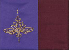 Lotusblüte Lila + Bordeaux