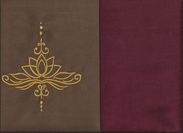Lotusblüte Braun + Bordeaux