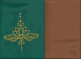 Lotusblüte Grün + Hellrost