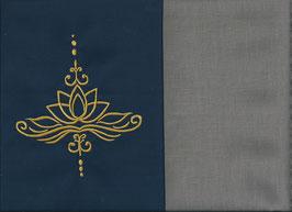 Lotusblüte Marine + Steingrau
