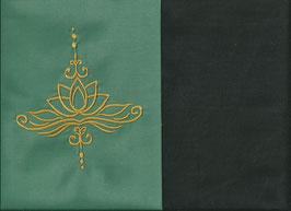 Lotusblüte Mintgrün + Schokobraun