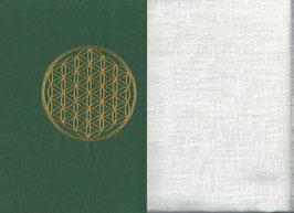 Blume des Lebens Grün + Creme