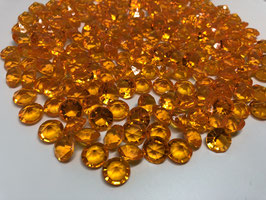 200 Stk Dekodiamanten Acryl Diamanten Streu-Deko Tisch-Deko Glitzersteine orange 11mm