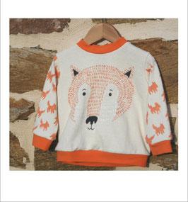 Sweat-shirt BIO 'renard' pour BÉBÉ