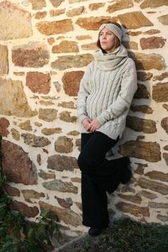 Pantalon RECYCLÉ large 'noir' pour FEMME