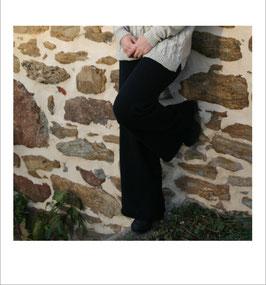 Pantalon RECYCLÉ large 'noir' pour femmes