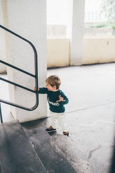 Pantalon 'feuilles' BIO pour bébé
