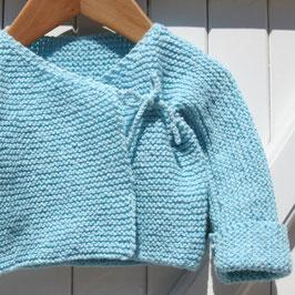 Kit tricot - niveau facile -  Gilet de naissance