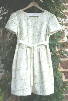 Robe BIO manches courtes 'feuilles pour FEMME