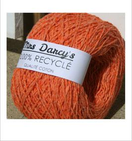 Pelote qualité coton RECYCLÉ 'orange corail'