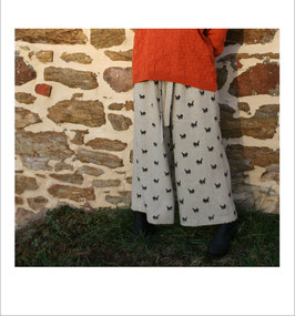 Pantalon BIO large 'meute' pour FEMME
