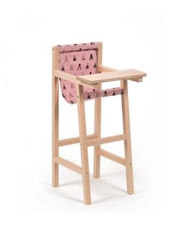 """Chaise haute """"Babies"""" rose poudré"""