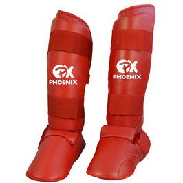 Schienbein- / Fußschutz Karate Rot