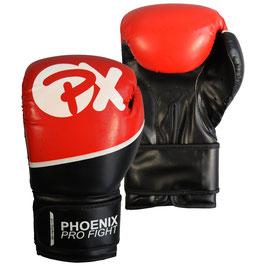 PX PRO FIGHT Boxhandschuhe PU schwarz-rot