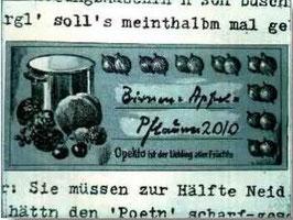 """""""Birnen und Pflaumen 2010"""""""