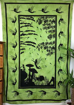 Wandtuch Elfenwald grün