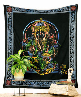 Wandbehang Ganesha schwarz bunt