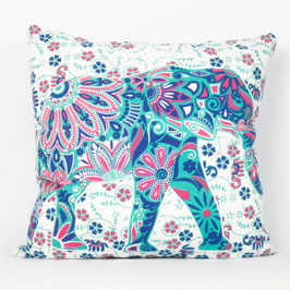 Kissen Lotus Elefant mintgrün rosa