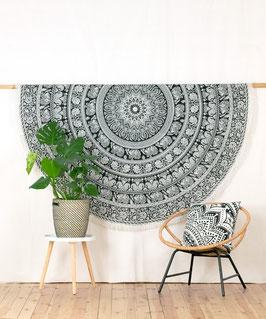 Roundie Elefanten Mandala s/w