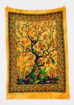 Wandposter Tree of Life gelb