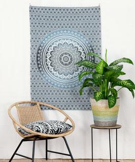 Wandposter Ombre Mandala grau schwarz