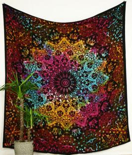 Wandteppich Wandbehang Stern Mandala bunt