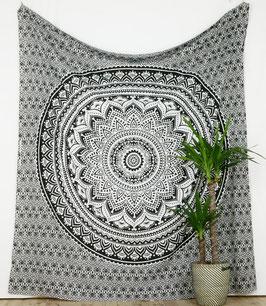 Wandteppich Wandbehang Ombre Mandala schwarz