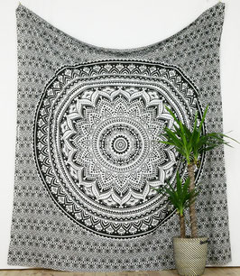 Wandbehang Ombre Mandala schwarz