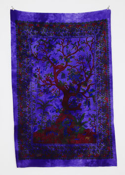 Wandposter Tree of Life lila
