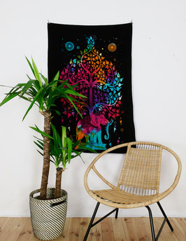 Wandposter Elefant Tree of Life