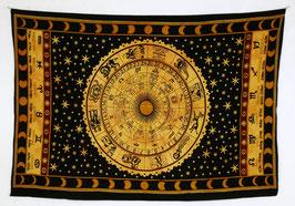 Wandtuch Sternzeichen Kreis schwarz gelb