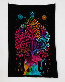Wandposter Elefant Tree of Life