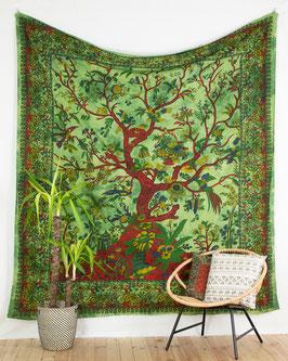 Wandbehang Lebensbaum grün