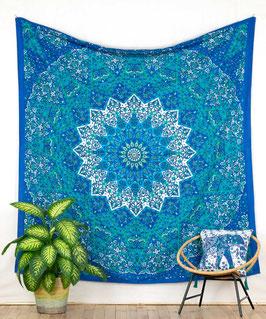 Wandbehang Stern Mandala blau