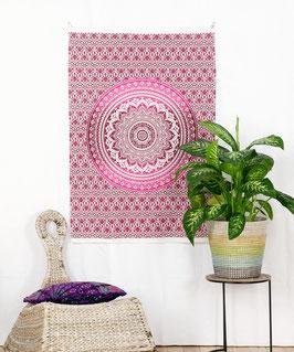 Wandposter Ombre Mandala rosa pink