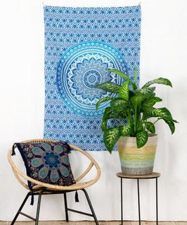 Wandposter Ombre Mandala blau
