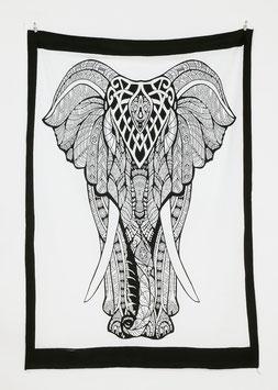 Wandposter indischer Elefant