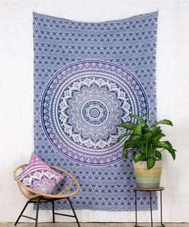 Wandtuch Ombré Mandala Verlauf lila
