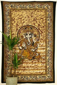 Wandtuch Ganesha gelb orange schwarz