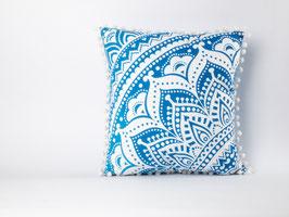 Mandala Kissen Farbverlauf blau