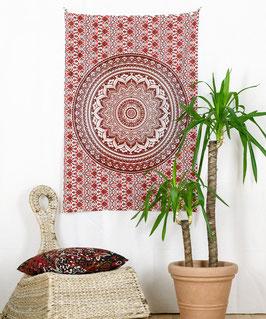 Wandposter Ombre Mandala rot braun