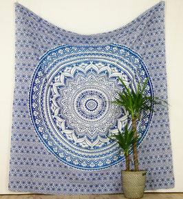 Wandbehang Ombré Mandala blau