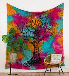 Wandbehang Weltenbaum batik bunt