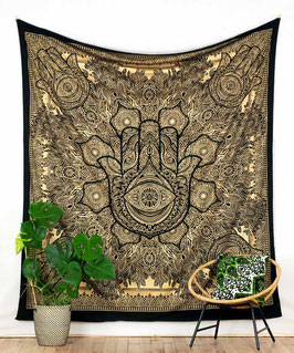 Gold Wandbehang Fatimas Hand schwarz